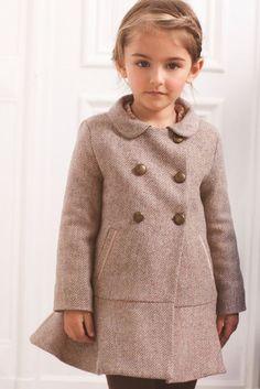 5cbf376c3 Flick coat in pink herringbone with velvet trim. Marie-Chantal A/W 2012