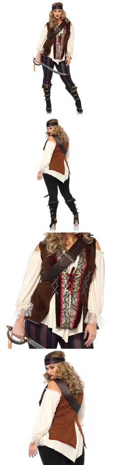 Halloween Costumes Women: Pirate Costume Plus Size Adult Wench Halloween Fancy Dress -> BUY IT NOW ONLY: $64.95 on eBay!