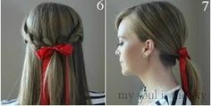 Resultado de imagem para penteados com fitas para festa junina