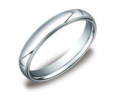 Men's Platinum 4mm Comfort Fit Milgrain Plain Wedding Band Amazon Curated Collection. $720.00. Made in the USA