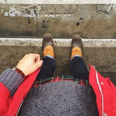 Duck boots and red accents- bring on the rain L.A.  #BlakeScott