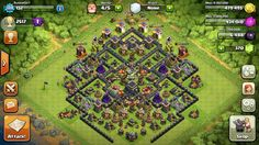 My FAVOURITE th9 trophy push base. 287 TROPHIES IN 24 HRS (C2-M3)