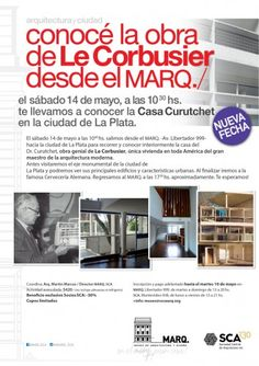 SCA | TOUR EXCLUSIVO A LA CASA CURUCHET  La Sociedad Central de Arquitectos invita al recorrido de la Casa del Dr. Curuchet, obra del Arq. Le Courbusier, el sábado 14 de mayo a las 10.30 hs.  Inscripciones hasta el martes 10 de mayo.  Más info: http://ly.cpau.org/1W4gK8x