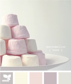 marshmallow hues  Color Palette - Paint Inspiration- Paint Colors- Paint Palette- Color- Design Inspiration