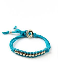 For Mom Gold Bead & Leather Woven Bracelet by Ettika Jewelry on Gilt.com