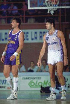 Arvydas Sabonis and Fernando Martín