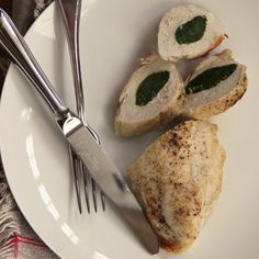 Garlicky Spinach Stuffed Chicken Breasts | Food & Wine
