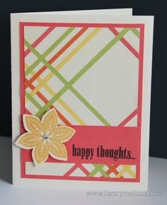 Happy Thoughts Dotty for You Card fancymelissa.com #ctmh #cricut Art Philosophy