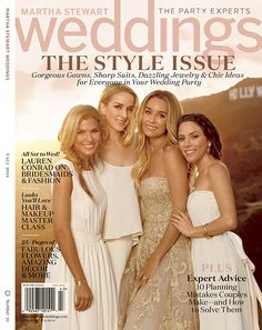 The New Paper Crown Bridesmaids Collection featured in Martha Stewart Weddings
