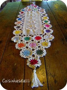 "This ""Table Runner"" is a beautiful combination of color & stitch."