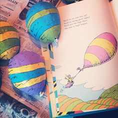 Art Project Idea with Balloons, Paper and Paint inspired by Oh the Places  You'll Go by Dr. Seuss.  So many ideas to do with this concept, luv it!