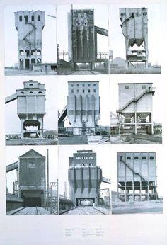 Bernd Becher and Hilla Becher,Coal Bunkers, 1974