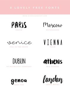 Fonts inspiration - download free | Photoshop templates for photographers by Birdesign