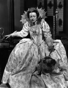 The Virgin Queen (1955) - Bette Davis as Elizabeth I, queen of England with Joseff Hollywood Jewelry