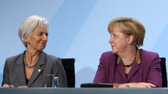 Angela Merkel and Christine Lagarde when Merkel Hosts Economic And Finance Summit 2012 Smart Women, Advanced Style, Elegant Chic, Powerful Women, Fashion Necklace, Business Women, Amazing Women, Finance, Female Leaders
