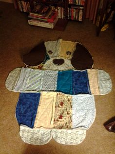 """We sell a variety of quilts. This one is called the """"Dog rag quilt"""" also made by Clair Fraser. Sold here at http://www.sirensfare.com"""