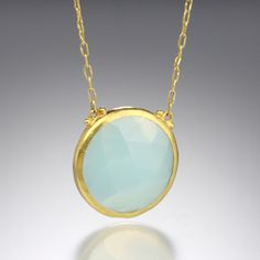 Quadrum - Gurhan 24K yellow gold and chalcedony necklace
