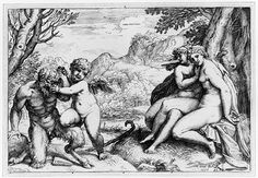Omnia vincit Amor, 1599 Agostino Carracci (Italian, Bolognese, 1557–1602) Engraving Plate: 5 x 7 3/8 in. (12.7 x 18.8 cm). Metropolitan NY