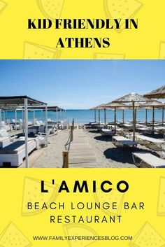 L'Amico. Family friendly lounge bar and beach club near Athens