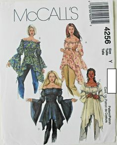 McCalls Pattern M7097 Ms Pull-on Skirts w//Length Variations and Godet Details