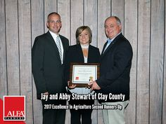 Excellence In Ag Runners-Up Jay and Abby Stewart of Clay County Clay County, Young Farmers, Create Awareness, Alabama, Runners, Jay, Leadership, Hallways, Joggers