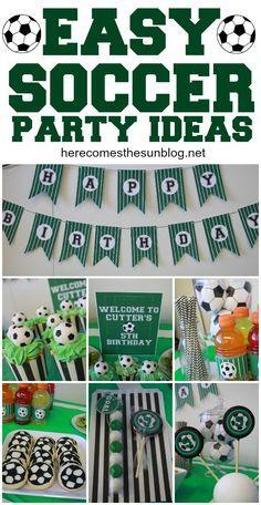 Birthday Party Ideas Create an amazing soccer party with these easy ideas!Create an amazing soccer party with these easy ideas! Soccer Birthday Parties, Football Birthday, Sports Birthday, Soccer Party, Birthday Party Themes, Boy Birthday, Kids Soccer, Sports Party, Football Soccer