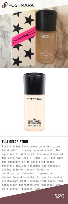 MAC Fix+ Coconut Sized To Go PRICE IS FIRM   NO TRADES  DON'T COMMENT UNLESS YOU'RE A SERIOUS BUYER MAC Cosmetics Makeup