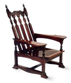 Design extremes: First, the hand-crafted, Gothic-inspired chair by American William Price.