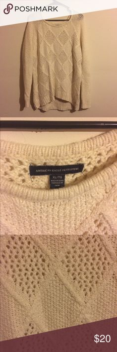 American Eagle Ivory Sweater XL Warm and cozy AE sweater! American Eagle Outfitters Tops Sweatshirts & Hoodies