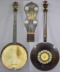 1920s Oscar Schmidt Stella Tenor Banjo --- https://www.pinterest.com/lardyfatboy/