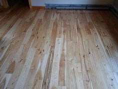 Sand and finish on gorgeous Hickory floors in upstate NY.