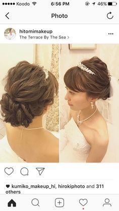Wedding Beauty, Wedding Makeup, Up Hairstyles, Wedding Hairstyles, Japanese Kimono Dress, Hair Arrange, Wedding Hair Inspiration, Fall Wedding Colors, Wedding Preparation