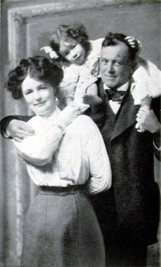 Crowley with his first wife Rose and daughter