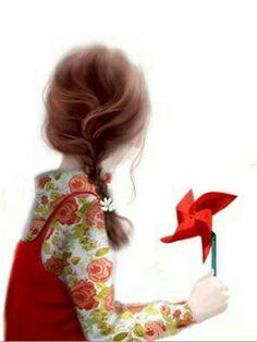 Children's Illustration by Jennie Enakei Girly M, Children's Book Illustration, Girls In Love, Cute Cartoon, Cute Art, Art Girl, Illustrators, Anime Art, Portrait