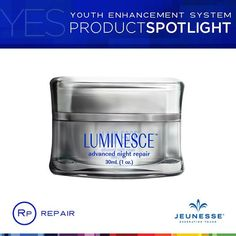 Clinical research on #LUMINESCE™ advanced night repair enhances metabolic pathways involved in the aging process.