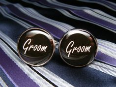 Groom Cufflinks  These cuff links are a perfect by UpscaleTrendz, $39.00