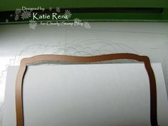 how to use die cutting for shaped cards: photo turtorial with lots of info ...