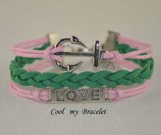 Handwoven personality charm love anchor bracelet by Coolmybracelet, $2.99