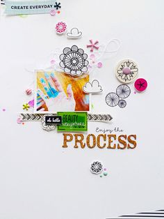 Enjoy the Process by analogpaper at @Studio_Calico