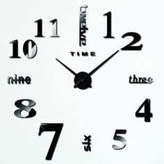 19.91$ Watch now - http://dia9x.justgood.pw/go.php?t=202503603 - DIY 3D Mirror Digital Clocks Wall Stickers