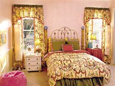 "Girls bedroom~Honey, after reading ""The Language of Flowers, I'm reconsidering Fostering a little girl again, and maybe adopting one.  My heart yearns for one."