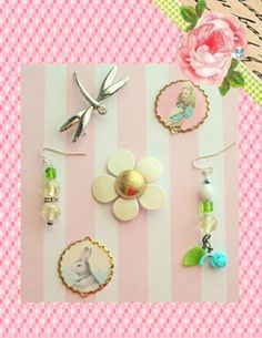 Alice in Wonderland Thinks Spring...Jewelry by raindropsonroses, $5.00 cute Etsy shop! #etsy