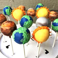 Space/ Galaxy cake pops