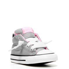 Converse Kids' Chuck Taylor All Star Street Mid Top Sneakers (Grey/Pink/Metallic) - 10.0 M