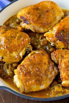 Chicken Recepies, Oven Chicken Recipes, Chicken Thigh Recipes, Recipe Chicken, Oven Recipes, Entree Recipes, Easy Dinner Recipes, Morracan Chicken, Morrocan Food