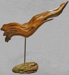 """sculpture naturelle en bois flotté """"Calamar"""""""