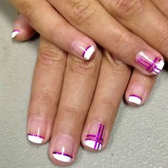 French with tape nail art