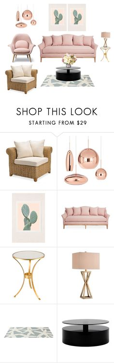 """""""Pink motif"""" by vering ❤ liked on Polyvore featuring interior, interiors, interior design, home, home decor, interior decorating, Pottery Barn, Wilder California, Catalina and Somerset Bay"""