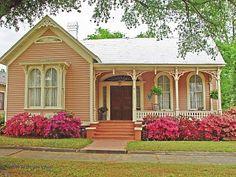 pink victorian in Selma, Alabama