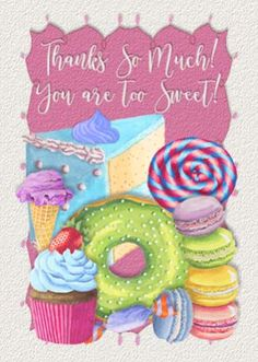 Thank your loved ones with this perfect ecard -> #cupcakes #love #thankyou